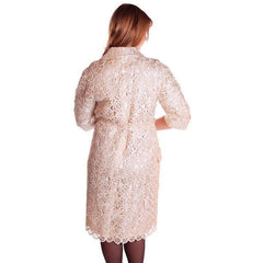 Vintage Italian Crocheted Straw Coat 1950S Cream Color Unique M-L Paoli - The Best Vintage Clothing  - 4
