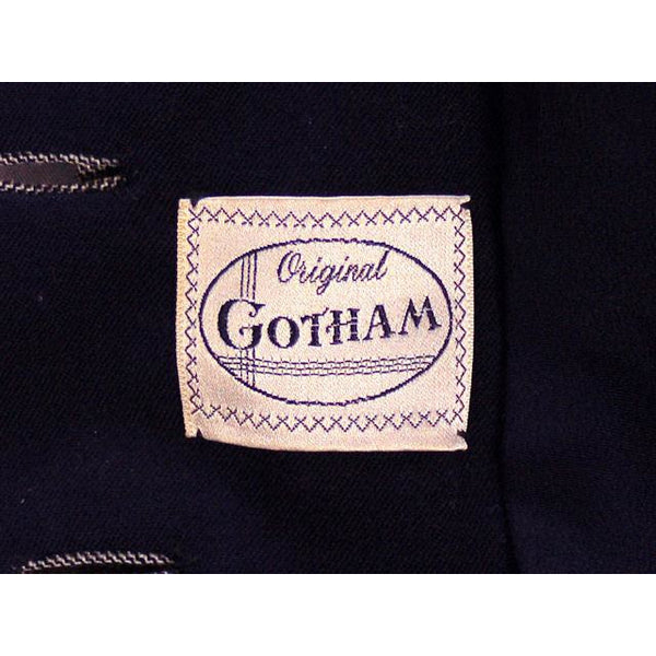 Vintage Ladies Navy/Gray Gotham Blazer Suit Jacket Gotham 1940s Med-Large 38-30 - The Best Vintage Clothing  - 6