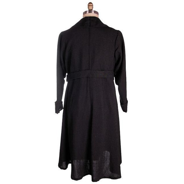Vintage Ladies Coat Edwardian-Early 1920s Black Serge Wool 44-40-50 - The Best Vintage Clothing  - 3