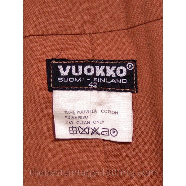Copy of Vintage 1970s  Vuokko Suomi Finland Striped Cotton Coat  Zip Front Mod 38 Fits S to M - The Best Vintage Clothing  - 5