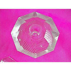 Vintage Lead Cut Crystal Paperweight Perfume Bottle Art Deco Bubble 7.5 Tall - The Best Vintage Clothing  - 2