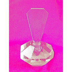 Vintage Lead Cut Crystal Paperweight Perfume Bottle Art Deco Bubble 7.5 Tall - The Best Vintage Clothing  - 4