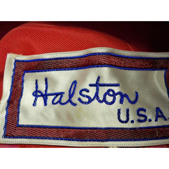 Vintage Hat Halston Silk Abstract Print Pinks & Reds 1970S - The Best Vintage Clothing  - 4