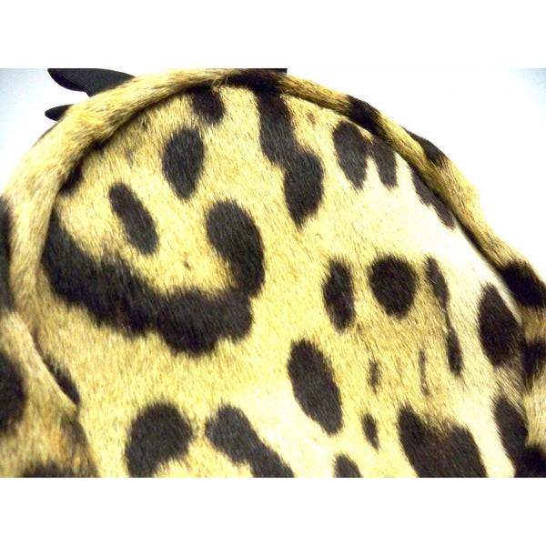 Vintage Ladies Pillbox Hat Genuine Cheetah Fur 1950s - The Best Vintage Clothing  - 4