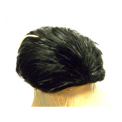 Vintage Ladies  Feather Hat  1950s Dramatic Black & Ivory - The Best Vintage Clothing  - 2