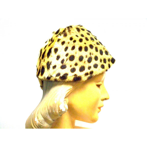 Vintage Cheetah Fur  Ladies Hat 1940s Adele List Vienna - The Best Vintage Clothing  - 3