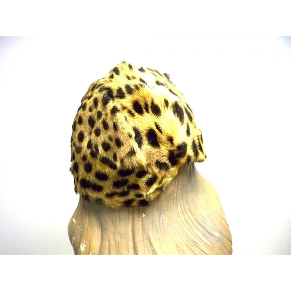 Vintage Cheetah Fur  Ladies Hat 1940s Adele List Vienna - The Best Vintage Clothing  - 4