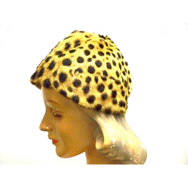 Vintage Cheetah Fur  Ladies Hat 1940s Adele List Vienna - The Best Vintage Clothing  - 5