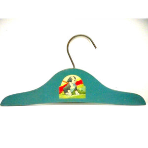 Most Adorable Wooden Childrens Hanger in the World Puppy Decal 1940s - The Best Vintage Clothing  - 1