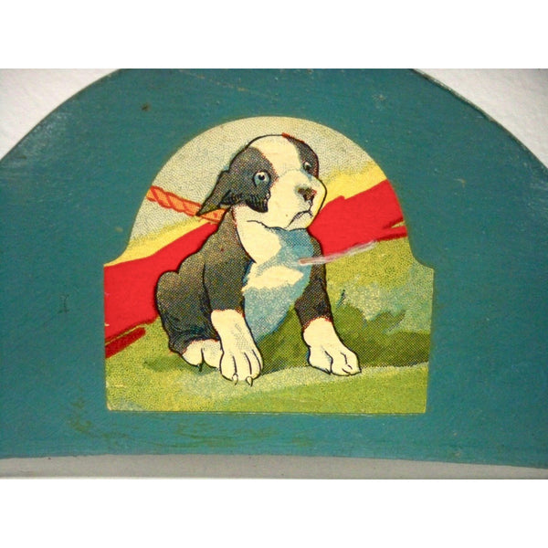 Most Adorable Wooden Childrens Hanger in the World Puppy Decal 1940s - The Best Vintage Clothing  - 2