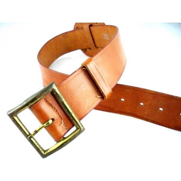 Vintage Ladies Leather Belt 1940s Size 26 Great Crown Emblem - The Best Vintage Clothing  - 2