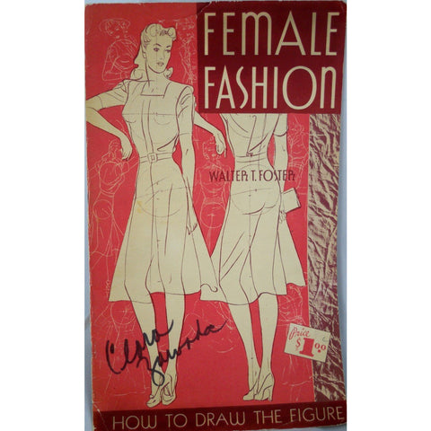 Vintage Fashion Book How To Draw The Female Figure 1940s