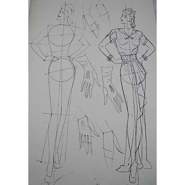 Vintage Fashion Book How To Draw The Female Figure 1940s - The Best Vintage Clothing  - 2