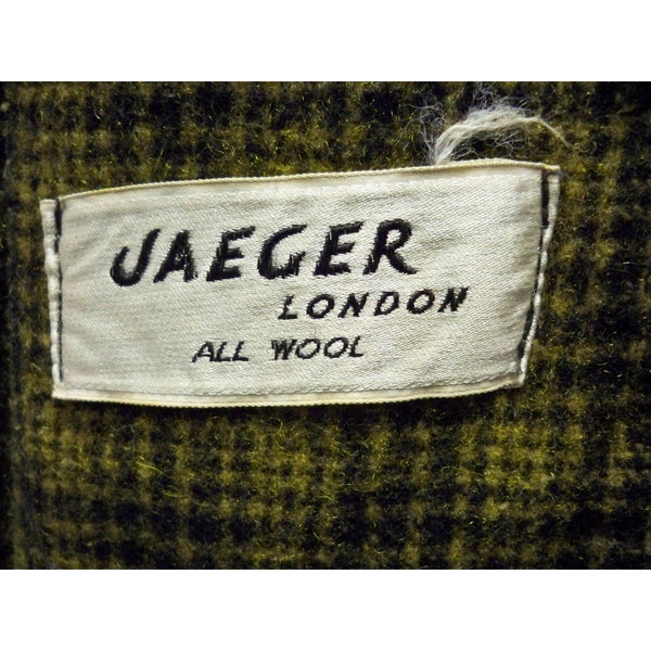 Mens Vintage Black/Green Plaid Wool Robe Jaeger 1940S 46 Chest - The Best Vintage Clothing  - 2