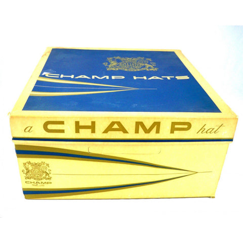 Mens Vintage Hatbox Champ 1960s Hat Box Large Square