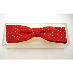 Vintage Mens Bow Tie Red/Silver Metallic 1950s Royal Rust Resistant - The Best Vintage Clothing  - 2