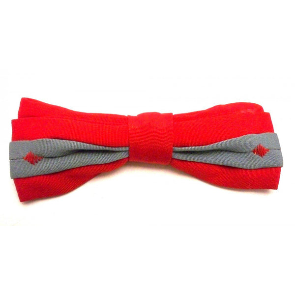 Vintage Boys Clip On Bow Tie Evergrip Jr. Red/Gray - The Best Vintage Clothing  - 1
