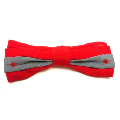 Vintage Boys Clip On Bow Tie Evergrip Jr. Red/Gray