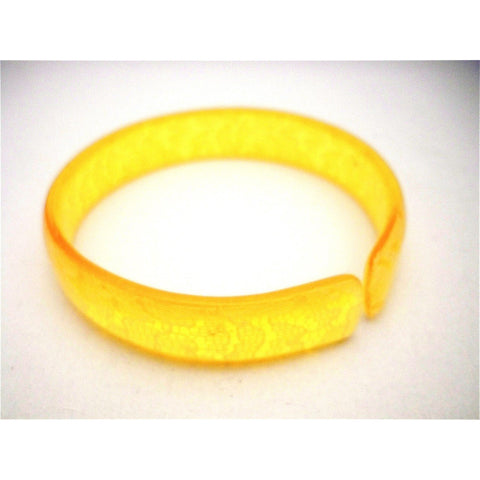 Vintage Celluloid Bangle Bracelet Honey Lace 1920s