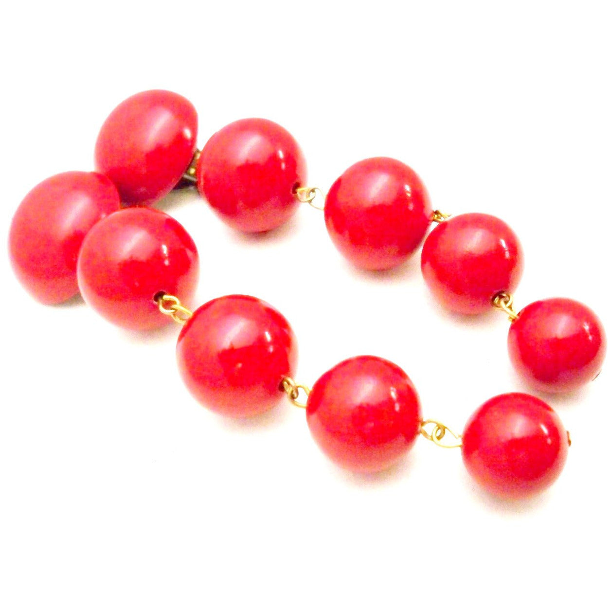 Vintage Cherry Gum Ball Drop Earrings CLip Style 1980s - The Best Vintage Clothing