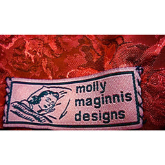New Reversible Designer Throw by Film Costume Designer  Molly Maginnis #2 Black/Red - The Best Vintage Clothing  - 3