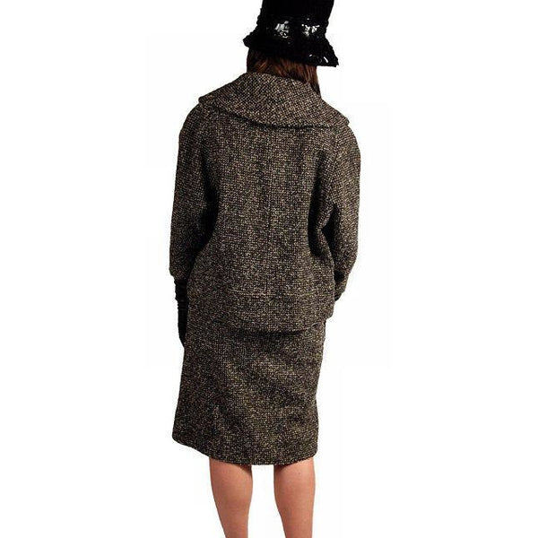 Vintage Tweed Suit Pencil Skirt 1940'S Salt & Pepper Wool/ Mohair Wilma Small - The Best Vintage Clothing  - 6