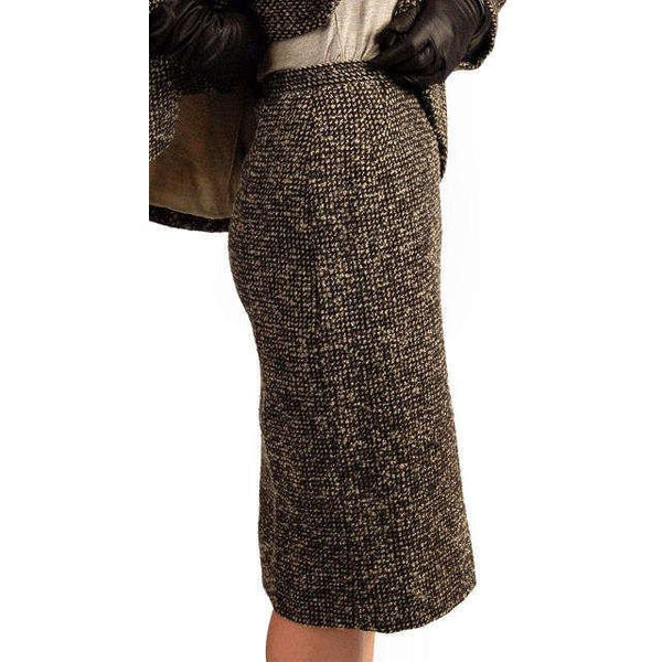 Vintage Tweed Suit Pencil Skirt 1940'S Salt & Pepper Wool/ Mohair Wilma Small - The Best Vintage Clothing  - 7