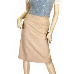 Vintage Pencil Skirt Camel Colored Heathered Cashmere 1940S Sz 2-4 - The Best Vintage Clothing  - 1