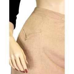 Vintage Pencil Skirt Camel Colored Heathered Cashmere 1940S Sz 2-4 - The Best Vintage Clothing  - 4