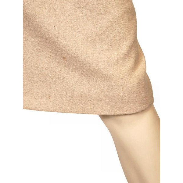 Vintage Pencil Skirt Camel Colored Heathered Cashmere 1940S Sz 2-4 - The Best Vintage Clothing  - 6
