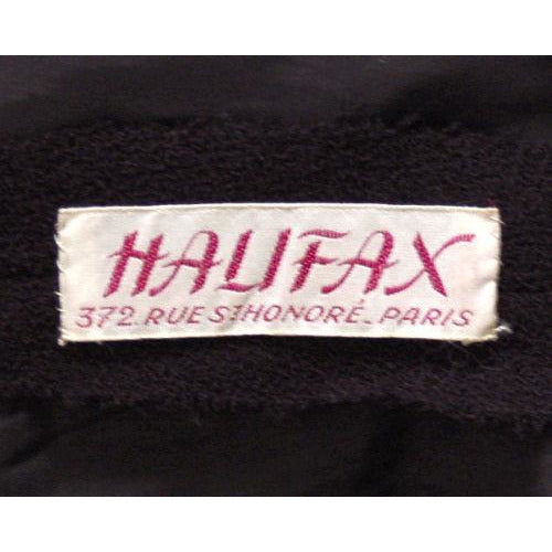 Vintage Black Wool Boucle Cocktail Dress Halifax 1950S