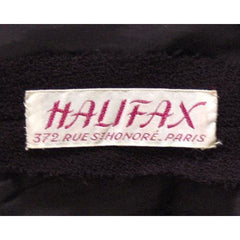 Vintage Black Wool Boucle Cocktail Dress Halifax 1950S 36-30-38 - The Best Vintage Clothing  - 8