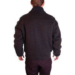 Vintage Mens Zip Jacket Cresco Wool  Houndstooth 1950S Sz 40 - The Best Vintage Clothing  - 3