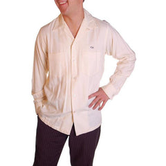 Vintage Mens Rupert Rhodes Wool Cream Shirt 1950S 38-40 Chest - The Best Vintage Clothing  - 4