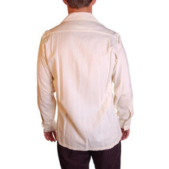 Vintage Mens Rupert Rhodes Wool Cream Shirt 1950S 38-40 Chest - The Best Vintage Clothing  - 2