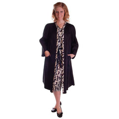 Vintage Dress Black & White Print  W/Matching Coat 1960S 35-26-36 Utah Tailoring - The Best Vintage Clothing  - 5
