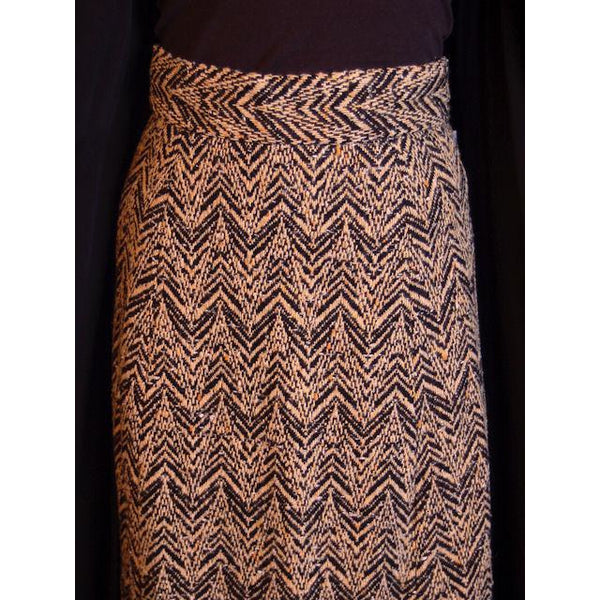 "Vintage Donald Brooks Tweed Maxi Skirt Suit 1970S 28""W - The Best Vintage Clothing  - 8"