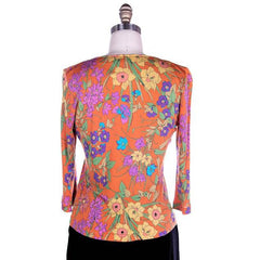 Vintage Averardo Bessi Silk Knit Floral Top  1960S S-M Bright Colors - The Best Vintage Clothing  - 5