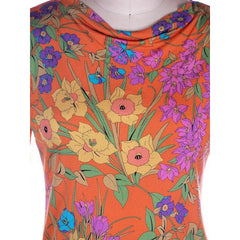 Vintage Averardo Bessi Silk Knit Floral Top  1960S S-M Bright Colors - The Best Vintage Clothing  - 4