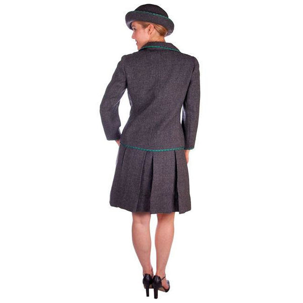 Vintage Nina Ricci  Paris Couture 1950s Gray Wool Dress Suit and Hat  36-25-38 - The Best Vintage Clothing  - 2