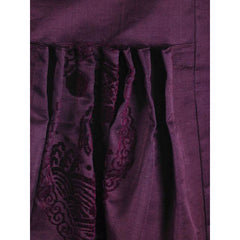 Vintage Aubergine Silk Evening Coat Created 1960s of Antique Fabric Provenance S - The Best Vintage Clothing  - 5
