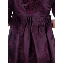 Vintage Aubergine Silk Evening Coat Created 1960s of Antique Fabric Provenance S - The Best Vintage Clothing  - 8