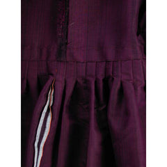 Vintage Aubergine Silk Evening Coat Created 1960s of Antique Fabric Provenance S - The Best Vintage Clothing  - 9