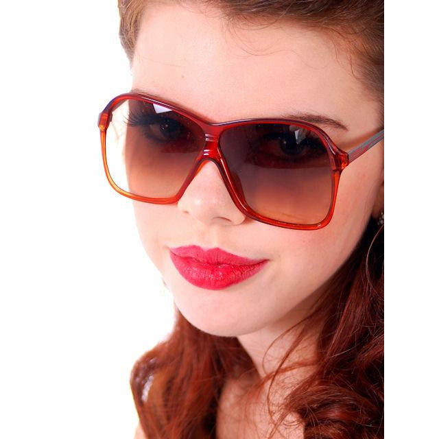 Vintage Carrera Aviator Glasses Red Ladies Model 5536 31 1980s - The Best Vintage Clothing  - 1
