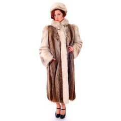 Vintage  Fox w/Raccoon Fur Maxi Coat Circa 1990s  w/ Matching Hat Paul Magder Furs - The Best Vintage Clothing  - 1
