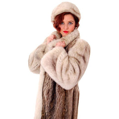 Vintage  Fox w/Raccoon Fur Maxi Coat Circa 1990s  w/ Matching Hat Paul Magder Furs - The Best Vintage Clothing  - 4