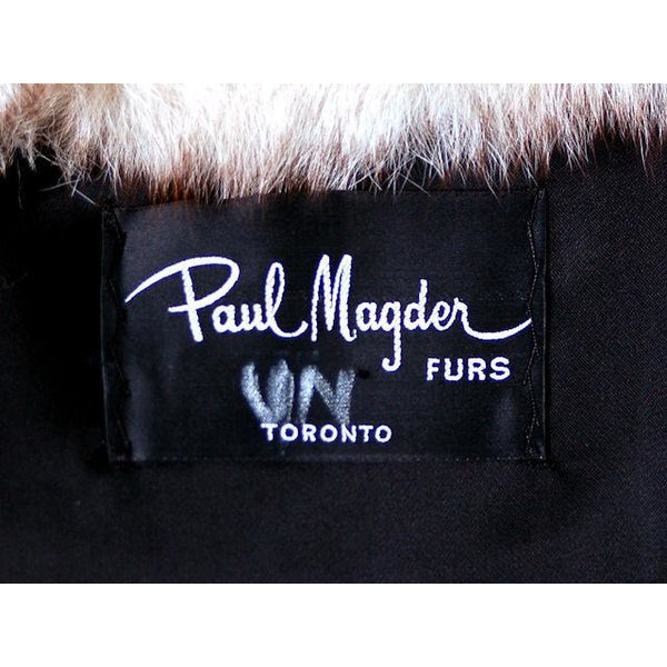 Vintage  Fox w/Raccoon Fur Maxi Coat Circa 1990s  w/ Matching Hat Paul Magder Furs - The Best Vintage Clothing  - 6