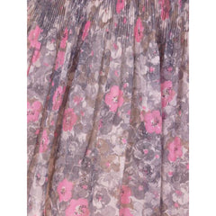 Vintage Pink & Gray Printed Floral Gauze Day Dress Sz 6 1950S - The Best Vintage Clothing  - 7