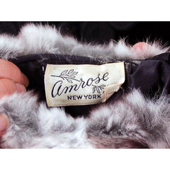 Vintage Chinchilla Fur Hat, Scarf & Muff Set 1950s Amrose - The Best Vintage Clothing  - 3