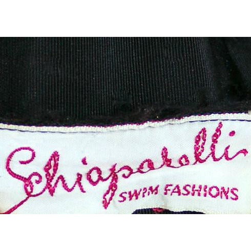 Vintage Schiaparelli Swim Suit Black w Red Fringe Small 1950s - The Best Vintage Clothing  - 7